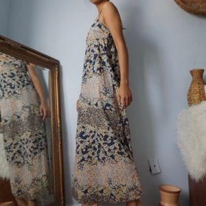 H&M Dresses - SOLD H&M Floral Maxi Minimal Strap Dress Size 4